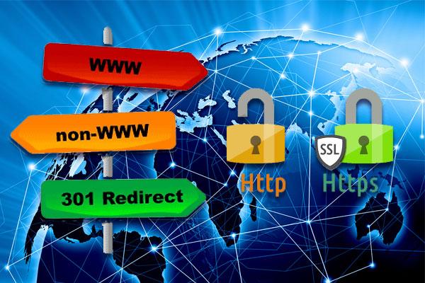 Redirectarea din punct de vedere SEO (1. cu sau fără www, 2. cu http sau cu https)